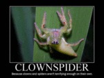 Clownspider Because Clowns