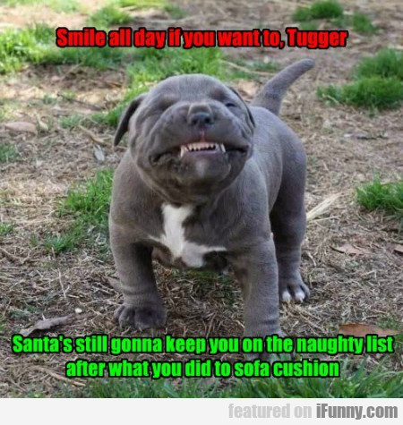 Smile All Day If You Want To Tugger