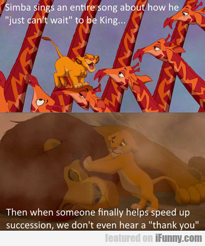 simba sings an entire song...