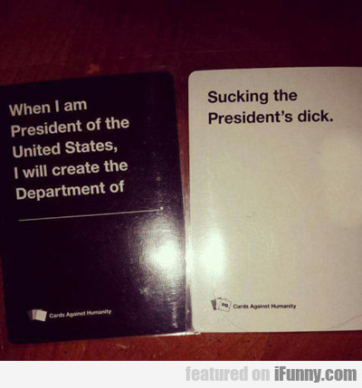 When I Am President Of The United States...