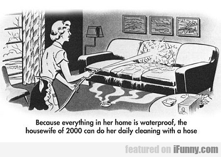 Because Everything In Her Home Is Waterproof...