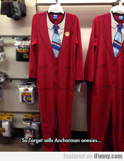 Target Sells Anchorman Themed Onesies...