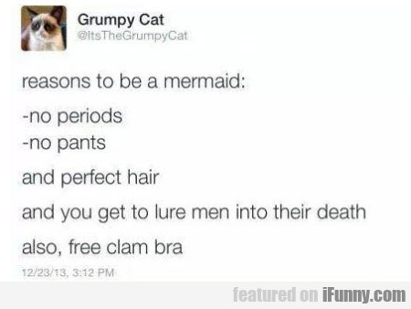 Reasons To Be A Mermaid No Periods