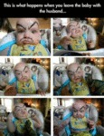 This Is What Happens When You Leave The Baby...