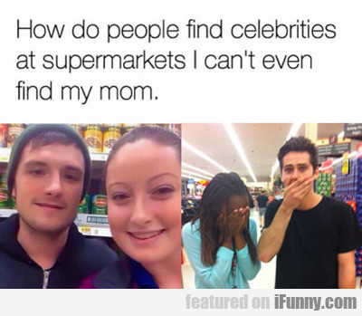 How Do People Find Celebrities At Supermarkets?
