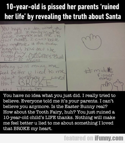 10-year-old Pissed Off At Her Parents...