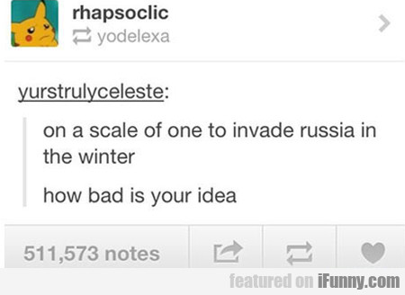 on a scale of one to invade