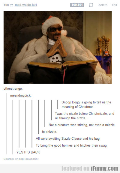 snoop dogg is going to tell us the meaning