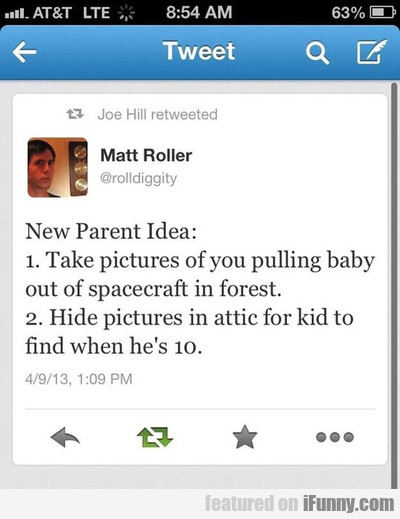 new parent idea take pictures of you