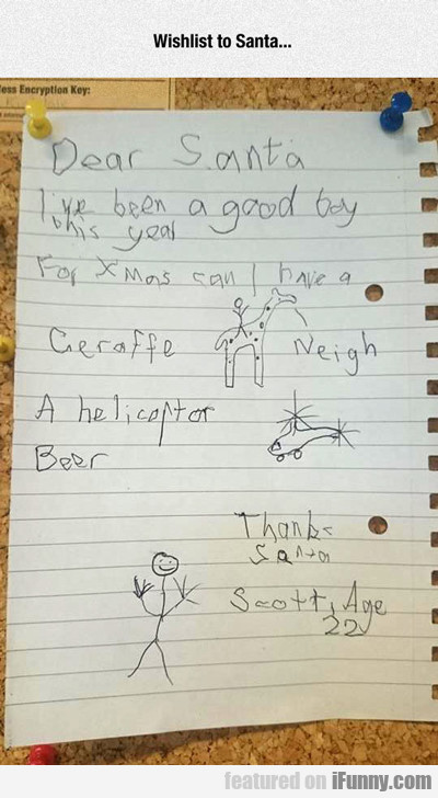 wishlist to santa...
