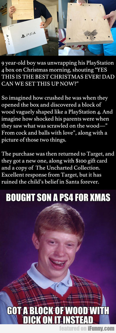 9-year-old Boy Was Unwrapping His Present...