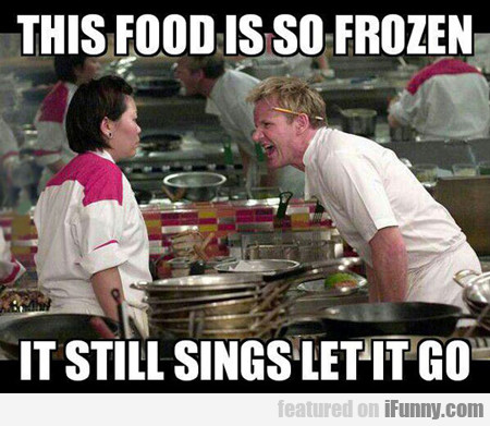 This Food Is So Frozen That It Still Sings Let It