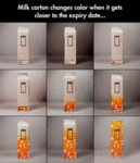 Milk Carton Changes Color...