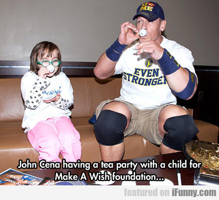 John Cena Having A Tea Party With A Child