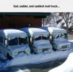 Sad, Sadder And Saddest Mail Truck..