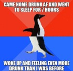 Came Home Drunk Af And Went To Sleep...