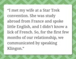 I Met My Wife At A Star Trek Convention