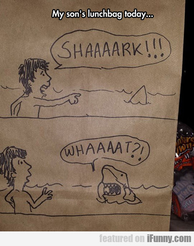 My Son's Lunchbag Today: Shaaaaaaaaark!!!