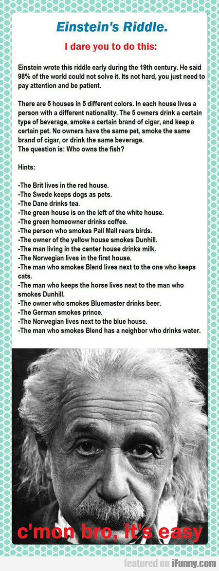 Einstein's Riddle