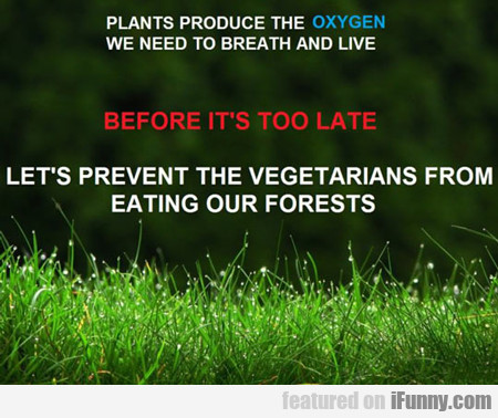 Plants Produce The Oxygen We Need...