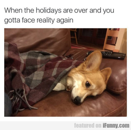 When The Holidays Are Over...