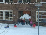 Kids Work Together To Create Eternal Recess...