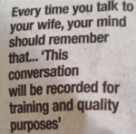 Every Time You Talk To Your Wife, Your Mind Should