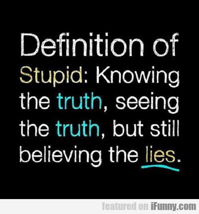 Definition Of Stupid...