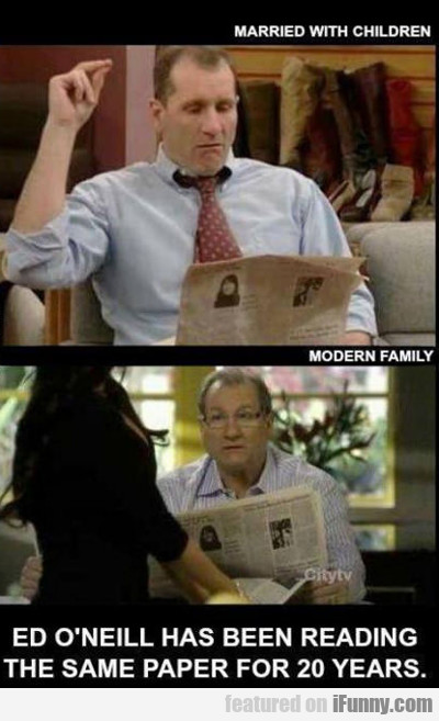Ed Oneil Has Been Reading The Same Newspaper....