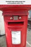 Somebody Keeps Putting Googly Eyes On The Post...