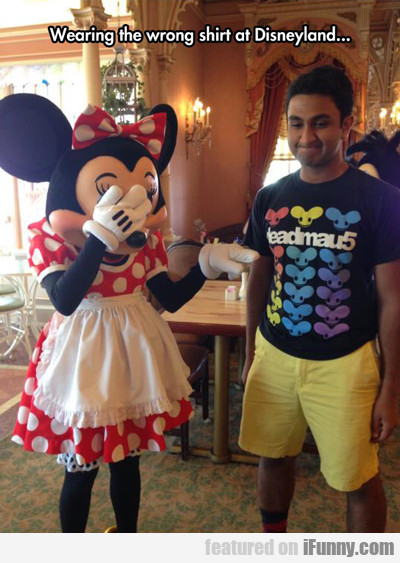 Wearing The Wrong Shirt At Disneyland...