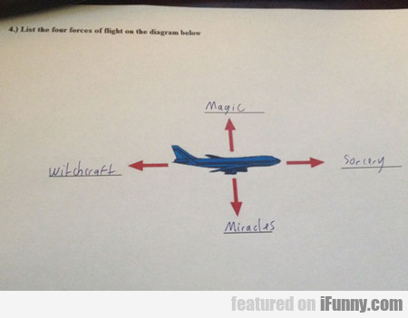 List The Four Forces Of Flight...