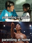 Parenting In Public Vs. Parenting At Home...