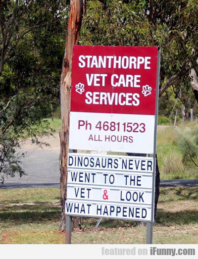 Dinosaurs Never Went To The Vet...