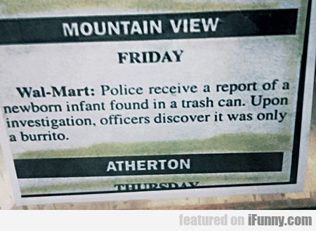 police received a report of a newborn...