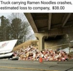 Truck Carrying Ramen Noodles...