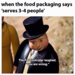 When The Food Packaging Says Serves Three...