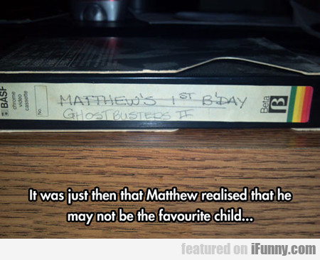 It Was Just Then That Matthew Realised He Was...