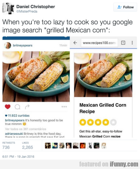 when you re too lazy to cook so you google