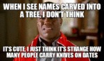 When I See Names Carved Into A Tree...