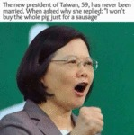 The New President Of Taiwan...