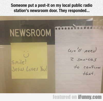 Someone Put A Post It On My Local Public Radio...