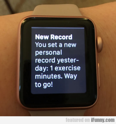 New Record You Set A New Personal