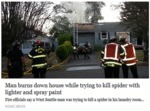 Man Burns Down House While Trying To Kill Spider