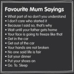 Favourite Mum Sayings What Part Of No Dont