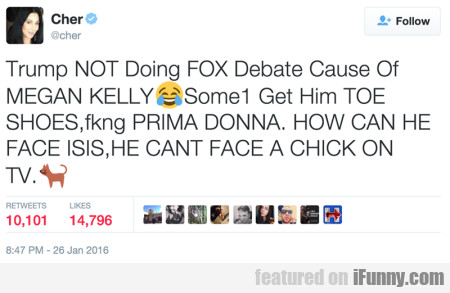 Trump Not Doing Fox Debate Cause