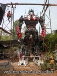Optimus Prime Made From Old Car Parts In Thailand