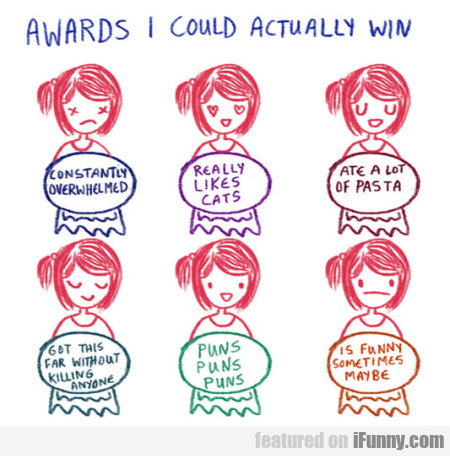 Awards I Could Actually Win