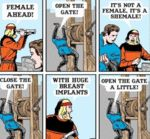 Female Ahead Open The Gate