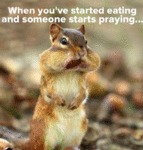 When You've Started Eating And Someone...